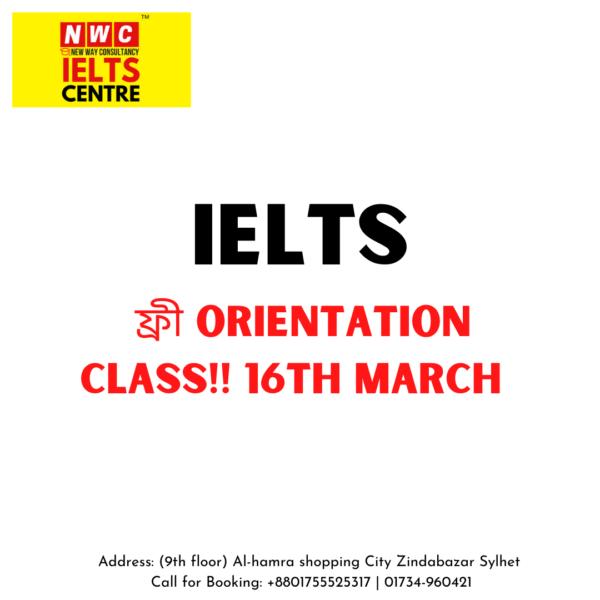 IELTS free Orientation class
